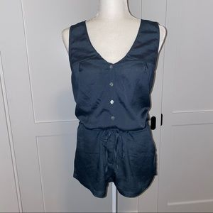 Hive & Honey Teal romper with buttons & pockets